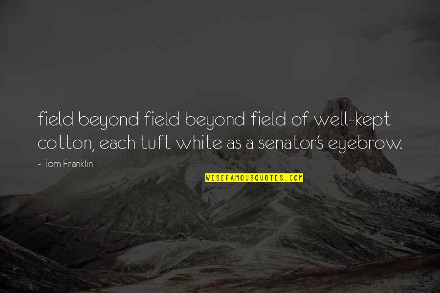 Memories Of A Loved One Quotes By Tom Franklin: field beyond field beyond field of well-kept cotton,