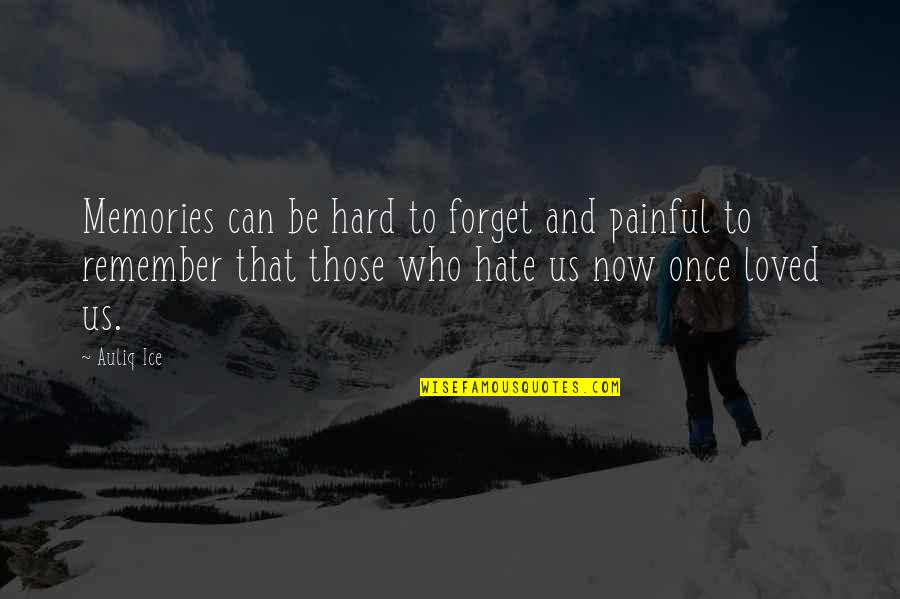 Memories You Can't Forget Quotes By Auliq Ice: Memories can be hard to forget and painful