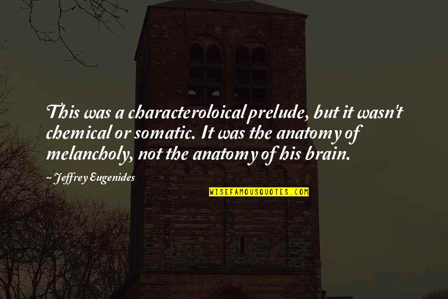 Mental Health Illness Quotes By Jeffrey Eugenides: This was a characteroloical prelude, but it wasn't