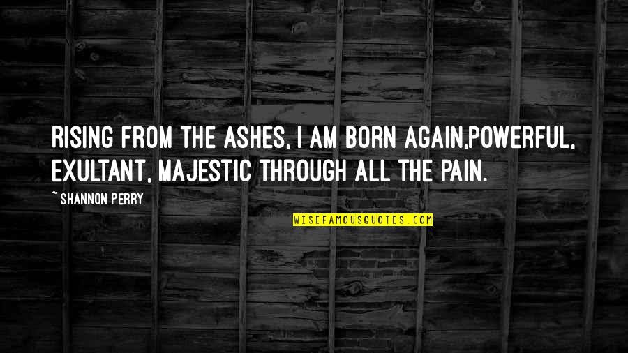 Mental Health Illness Quotes By Shannon Perry: Rising from the ashes, I am born again,powerful,