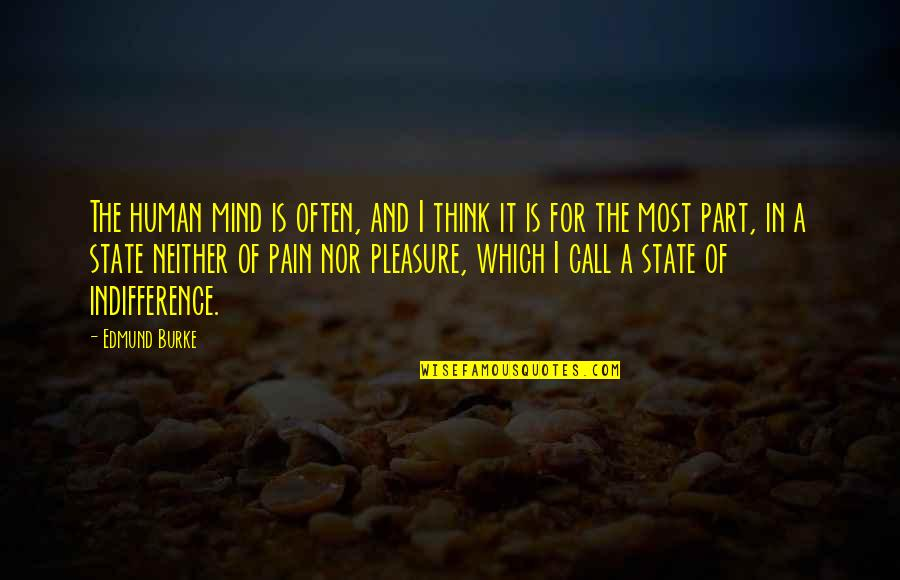 Mental State Of Mind Quotes By Edmund Burke: The human mind is often, and I think