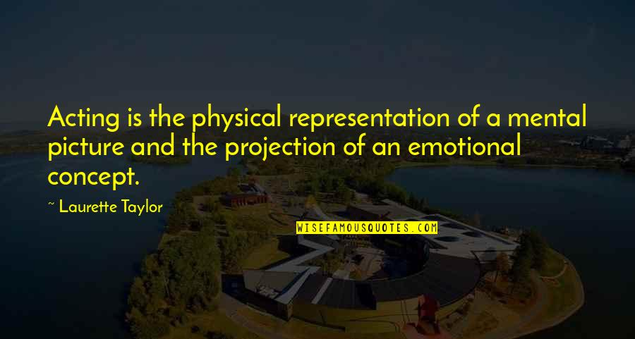 Mental Vs Physical Quotes By Laurette Taylor: Acting is the physical representation of a mental