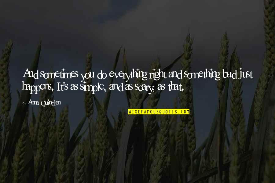 Merker Quotes By Anna Quindlen: And sometimes you do everything right and something