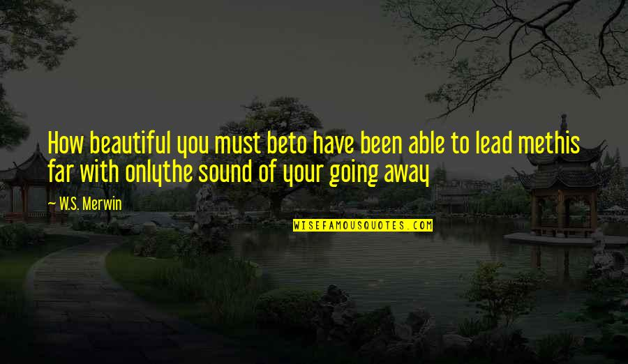 Merwin Quotes By W.S. Merwin: How beautiful you must beto have been able