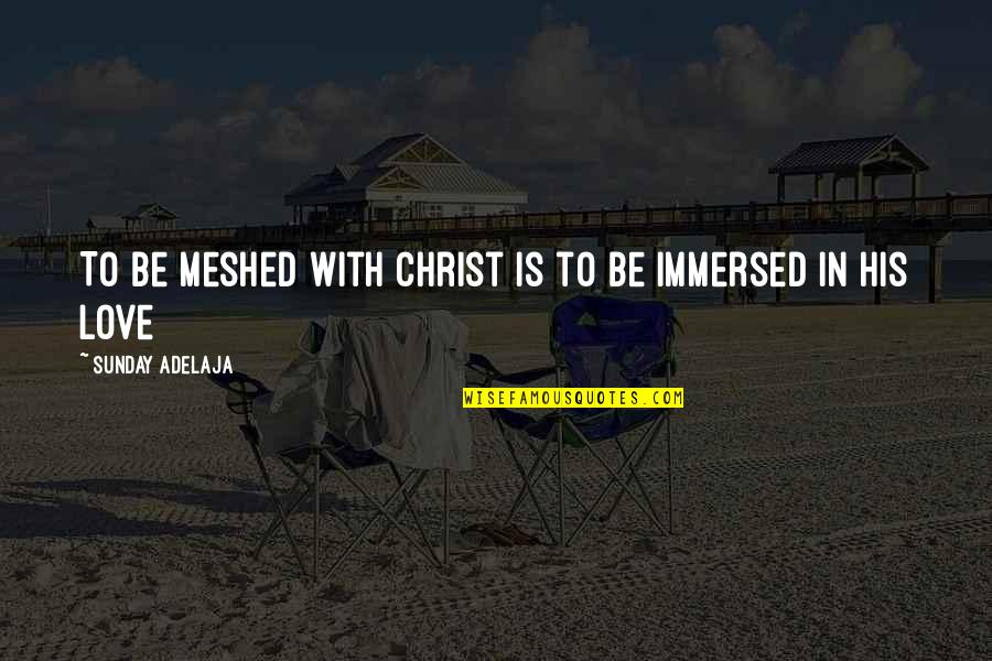 Meshed Quotes By Sunday Adelaja: To be meshed with Christ is to be