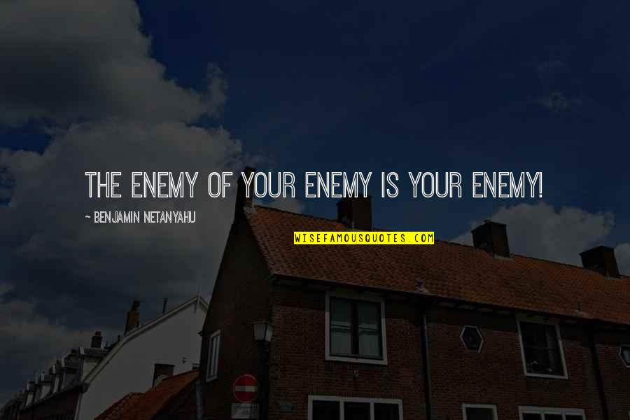 Mesmerism Quotes By Benjamin Netanyahu: The enemy of your enemy is your enemy!