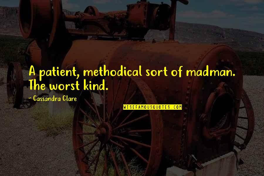Methodical Quotes By Cassandra Clare: A patient, methodical sort of madman. The worst