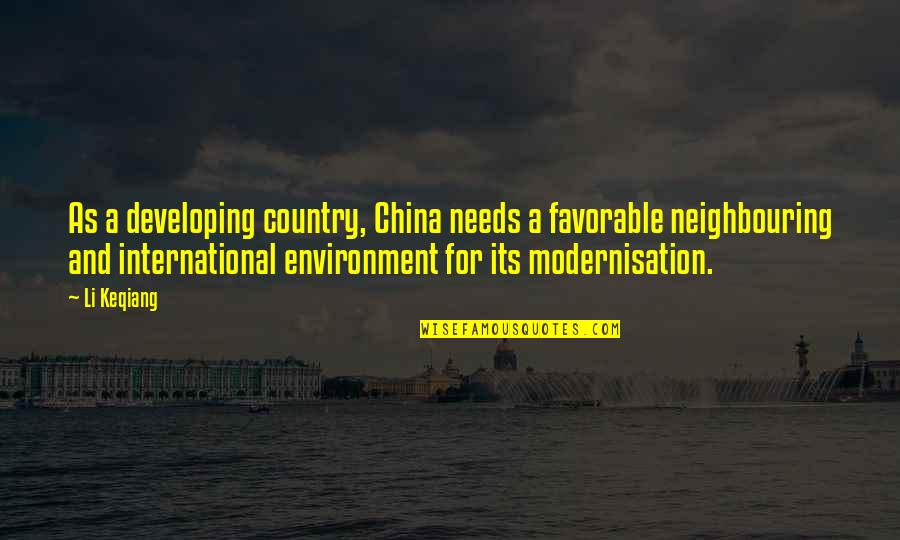 Mewtwo Victory Quotes By Li Keqiang: As a developing country, China needs a favorable