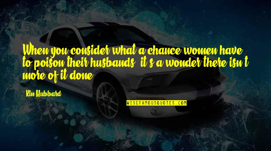 Mice Valentine Quotes By Kin Hubbard: When you consider what a chance women have
