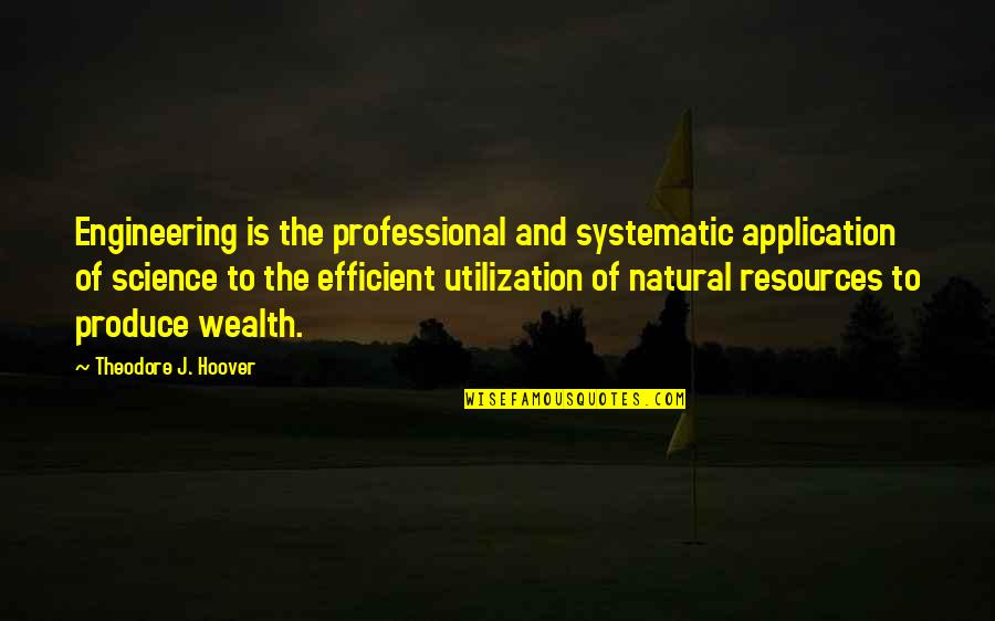 Michael Crichton Travels Quotes By Theodore J. Hoover: Engineering is the professional and systematic application of