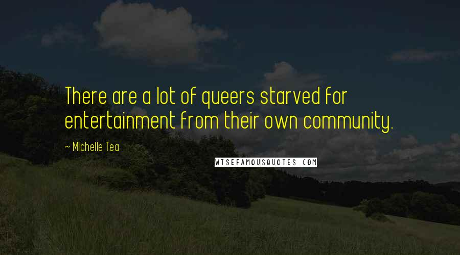 Michelle Tea quotes: There are a lot of queers starved for entertainment from their own community.