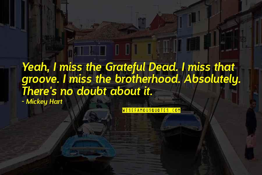 Mickey's Quotes By Mickey Hart: Yeah, I miss the Grateful Dead. I miss