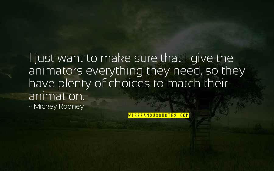 Mickey's Quotes By Mickey Rooney: I just want to make sure that I