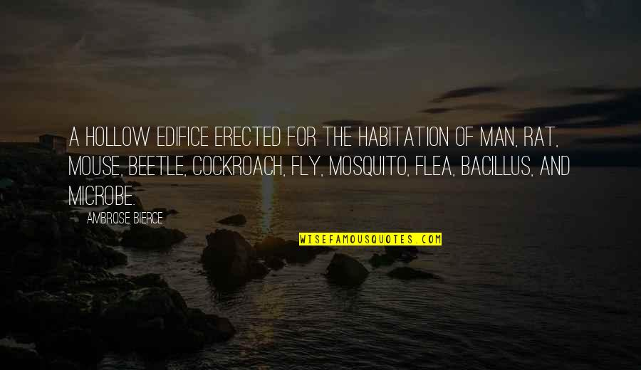 Microbe Quotes By Ambrose Bierce: A hollow edifice erected for the habitation of