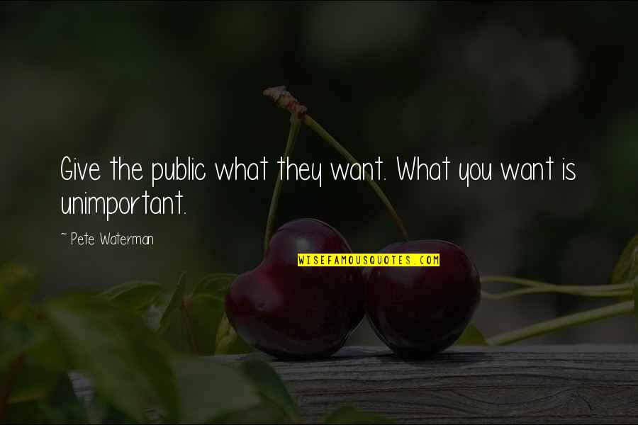 Microsoft Owner Quotes By Pete Waterman: Give the public what they want. What you