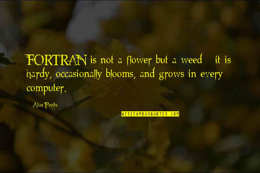 Mid Year Performance Review Quotes By Alan Perlis: FORTRAN is not a flower but a weed