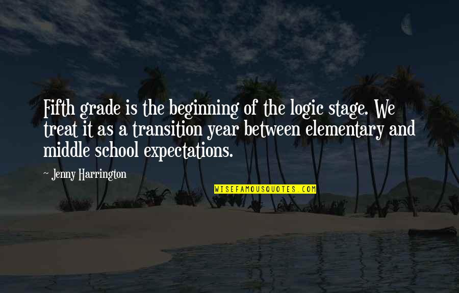 Middle School Transition Quotes By Jenny Harrington: Fifth grade is the beginning of the logic