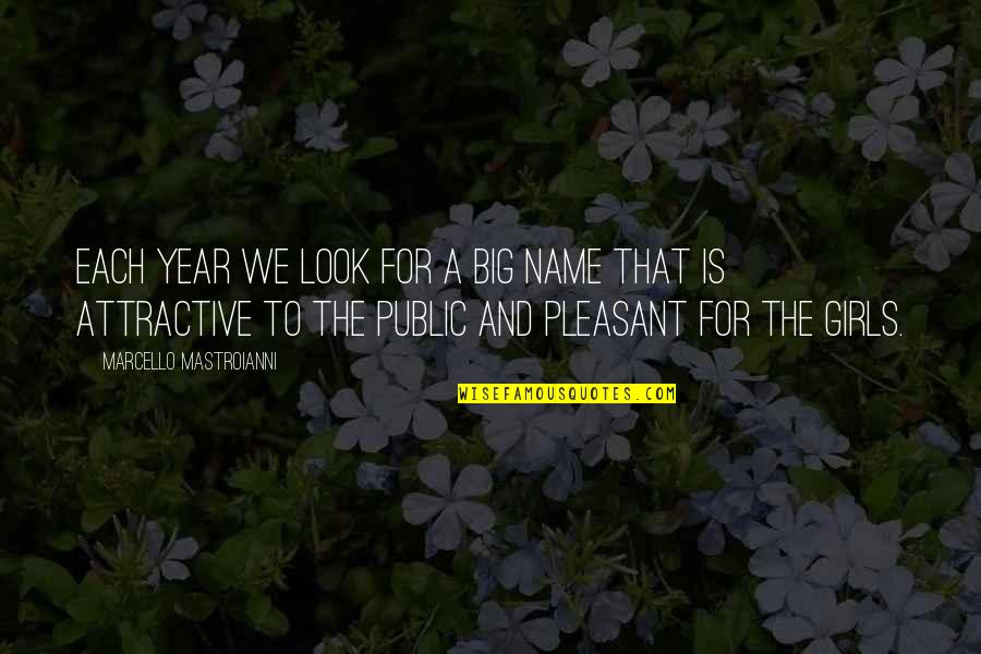 Midnight Blue Quotes By Marcello Mastroianni: Each year we look for a big name