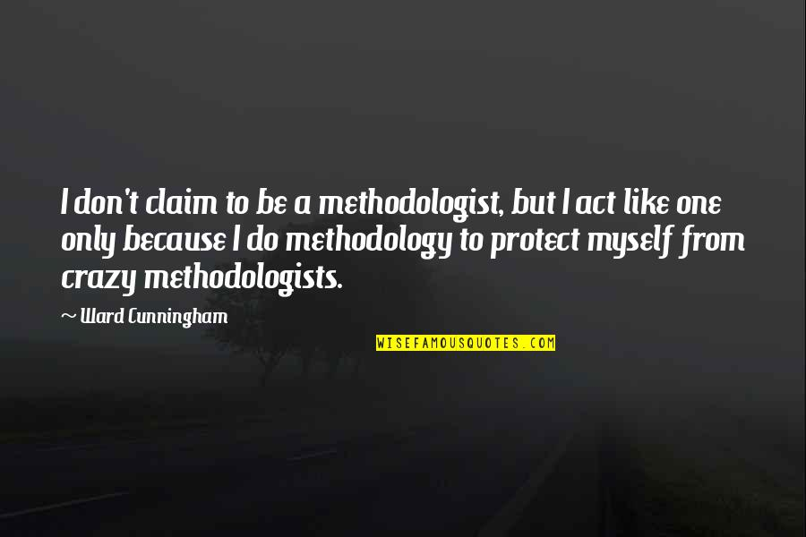 Midnight Blue Quotes By Ward Cunningham: I don't claim to be a methodologist, but