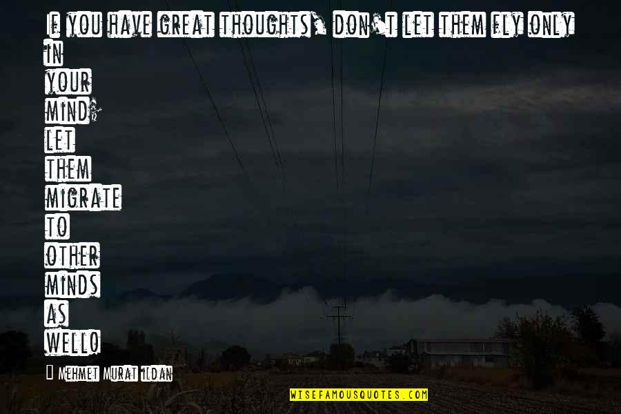 Migrate Quotes By Mehmet Murat Ildan: If you have great thoughts, don't let them
