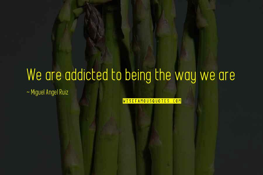 Miguel Angel Quotes By Miguel Angel Ruiz: We are addicted to being the way we