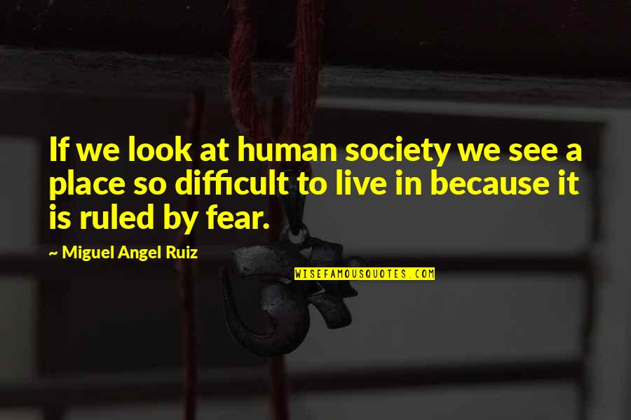 Miguel Angel Quotes By Miguel Angel Ruiz: If we look at human society we see