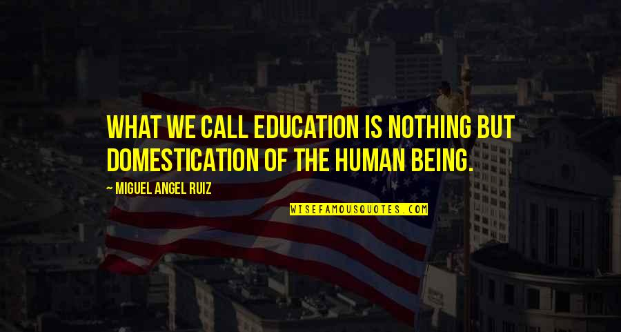 Miguel Angel Quotes By Miguel Angel Ruiz: What we call education is nothing but domestication