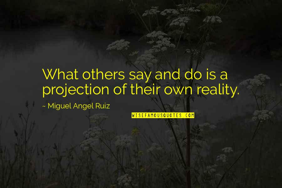 Miguel Angel Quotes By Miguel Angel Ruiz: What others say and do is a projection