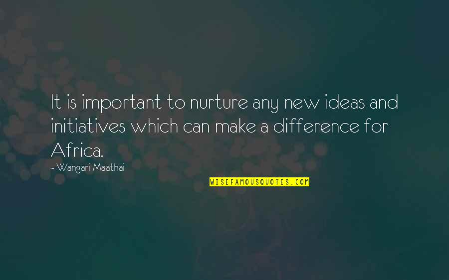 Mijn Beste Vriendin Quotes By Wangari Maathai: It is important to nurture any new ideas