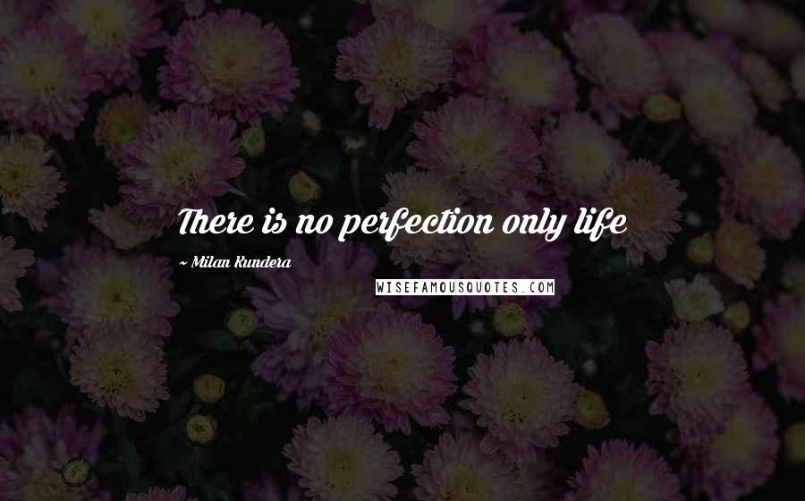 Milan Kundera quotes: There is no perfection only life