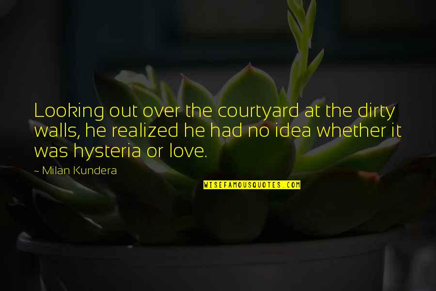 Milan Kundera Quotes By Milan Kundera: Looking out over the courtyard at the dirty