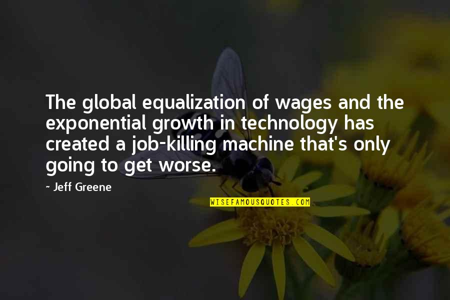 Milder Quotes By Jeff Greene: The global equalization of wages and the exponential