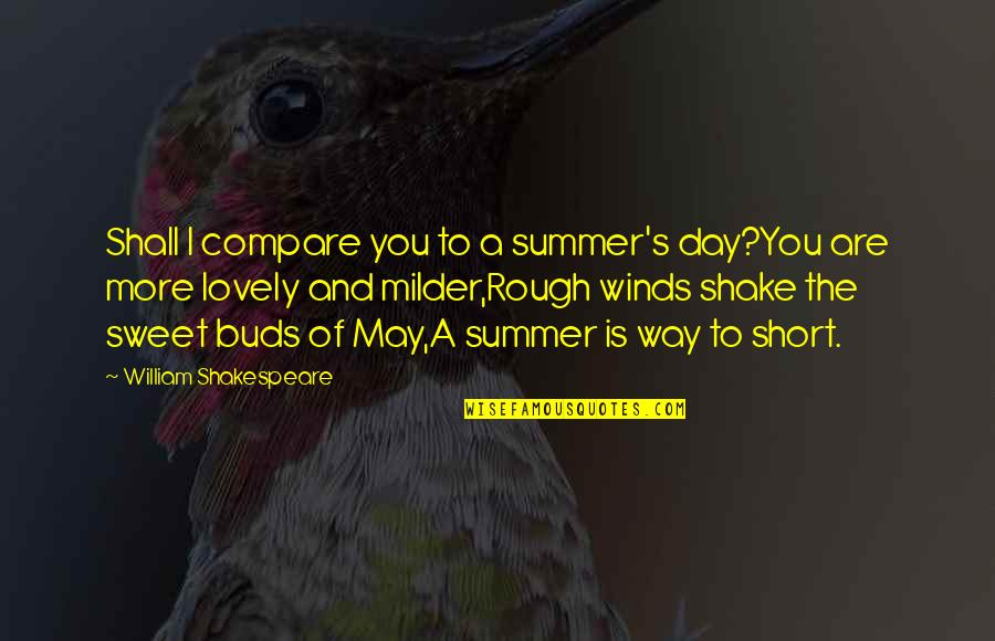 Milder Quotes By William Shakespeare: Shall I compare you to a summer's day?You