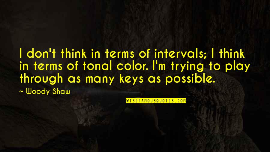 Miles Kane Song Quotes By Woody Shaw: I don't think in terms of intervals; I