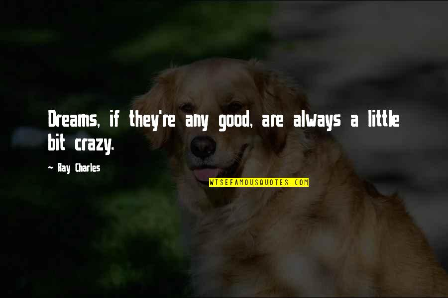 Military Training Instructor Quotes By Ray Charles: Dreams, if they're any good, are always a