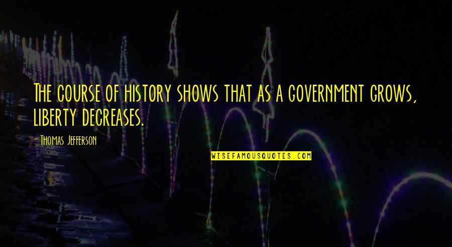 Millat Quotes By Thomas Jefferson: The course of history shows that as a