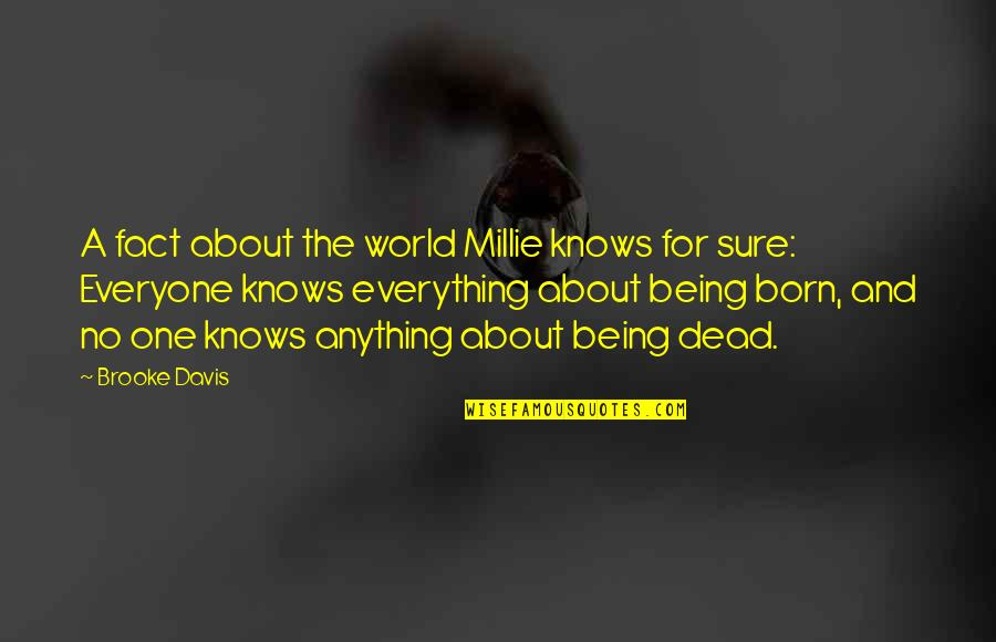 Millie Quotes By Brooke Davis: A fact about the world Millie knows for
