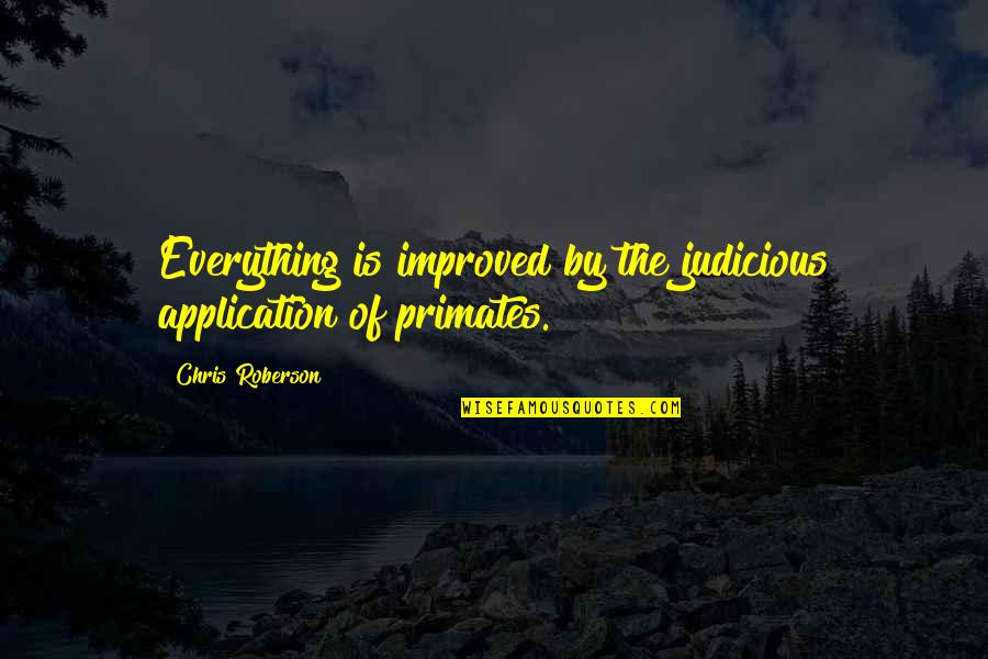 Milos Obilic Quotes By Chris Roberson: Everything is improved by the judicious application of