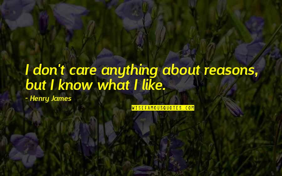 Milos Obilic Quotes By Henry James: I don't care anything about reasons, but I