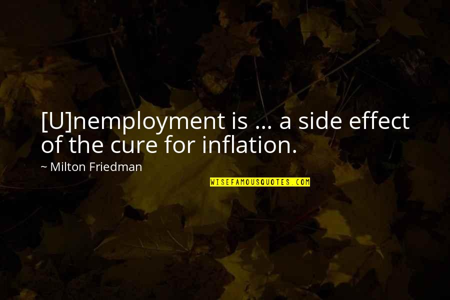 Milton Friedman Inflation Quotes By Milton Friedman: [U]nemployment is ... a side effect of the