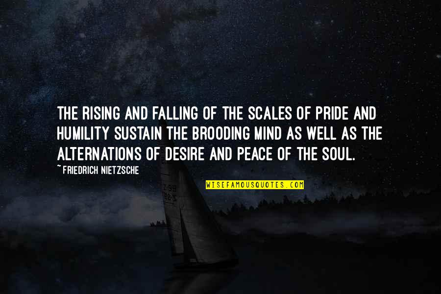 Mind And Peace Quotes By Friedrich Nietzsche: The rising and falling of the scales of