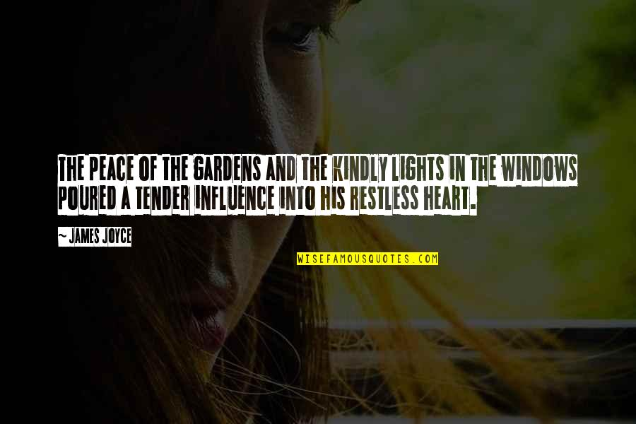 Mind And Peace Quotes By James Joyce: The peace of the gardens and the kindly