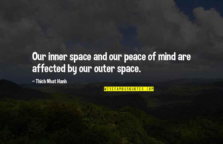 Mind And Peace Quotes By Thich Nhat Hanh: Our inner space and our peace of mind