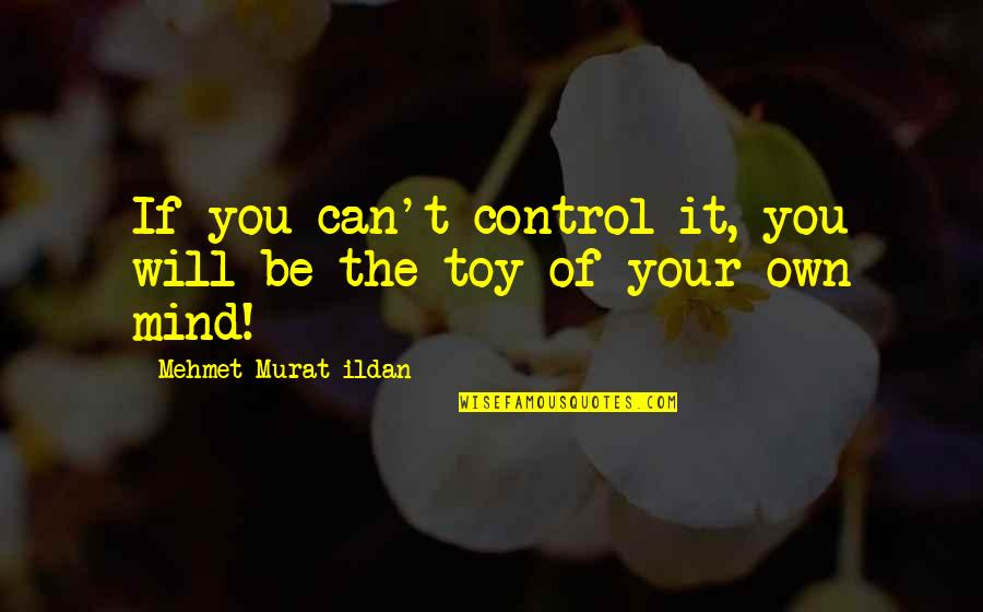 Mind Control Quotes By Mehmet Murat Ildan: If you can't control it, you will be