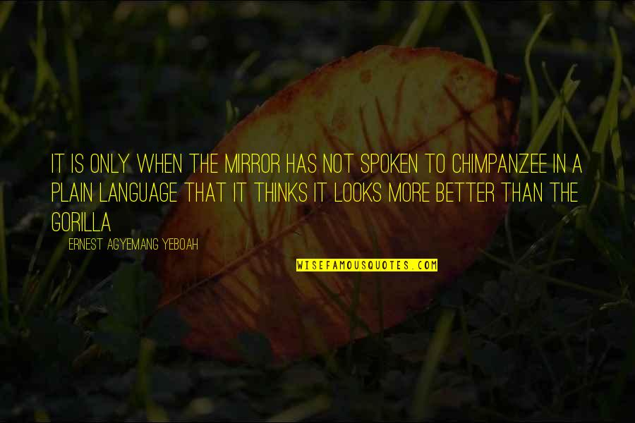 Mind Your Language Quotes By Ernest Agyemang Yeboah: It is only when the mirror has not