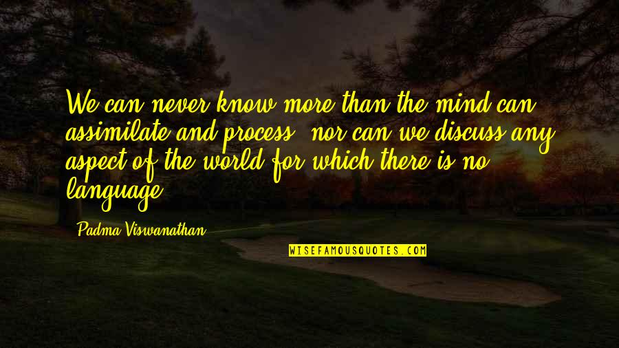 Mind Your Language Quotes By Padma Viswanathan: We can never know more than the mind