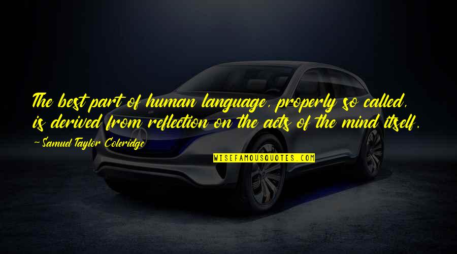 Mind Your Language Quotes By Samuel Taylor Coleridge: The best part of human language, properly so