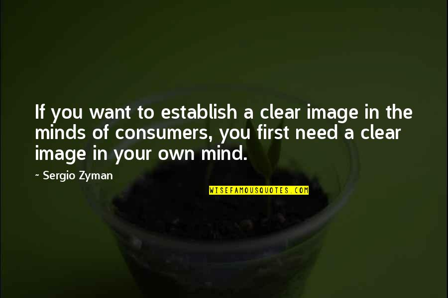 Mind Your Own Quotes By Sergio Zyman: If you want to establish a clear image