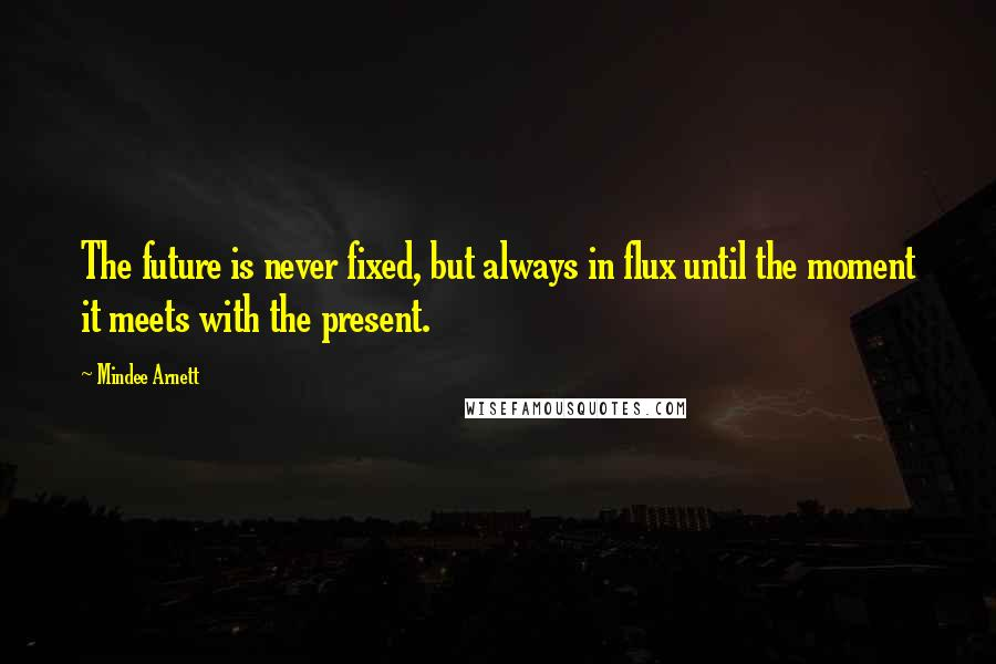Mindee Arnett quotes: The future is never fixed, but always in flux until the moment it meets with the present.