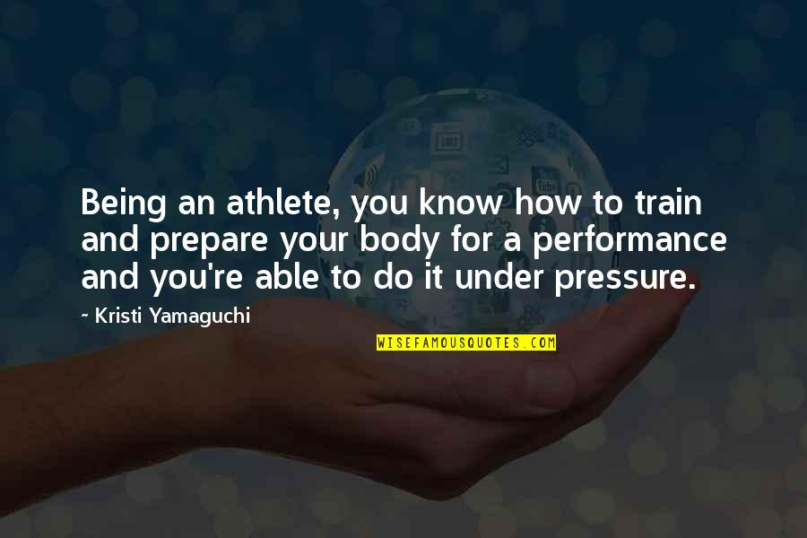 Minding Others Life Quotes By Kristi Yamaguchi: Being an athlete, you know how to train